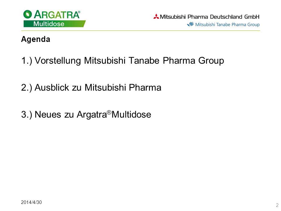 2014/4/30 23 Argatroban Wirkmechanismus Direkte Thrombininhibitoren binden sowohl freies wie auch Fibrin-gebundenes Thrombin.