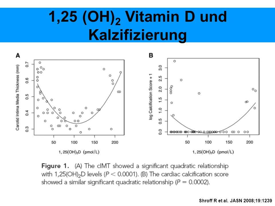 1,25 (OH) 2 Vitamin D und Kalzifizierung Shroff R et al. JASN 2008;19:1239