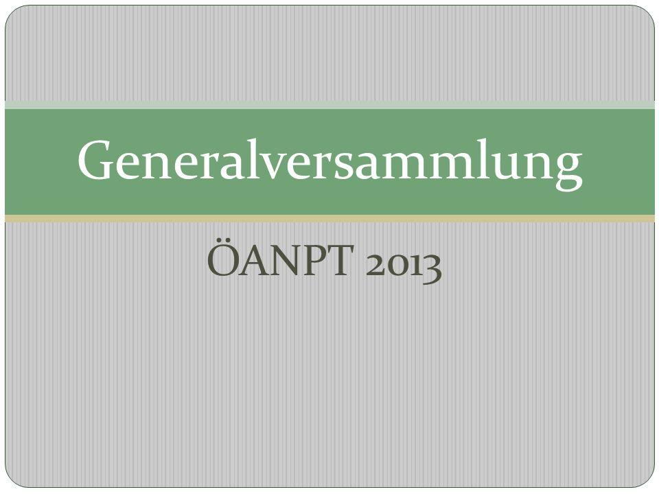 ÖANPT 2013 Generalversammlung