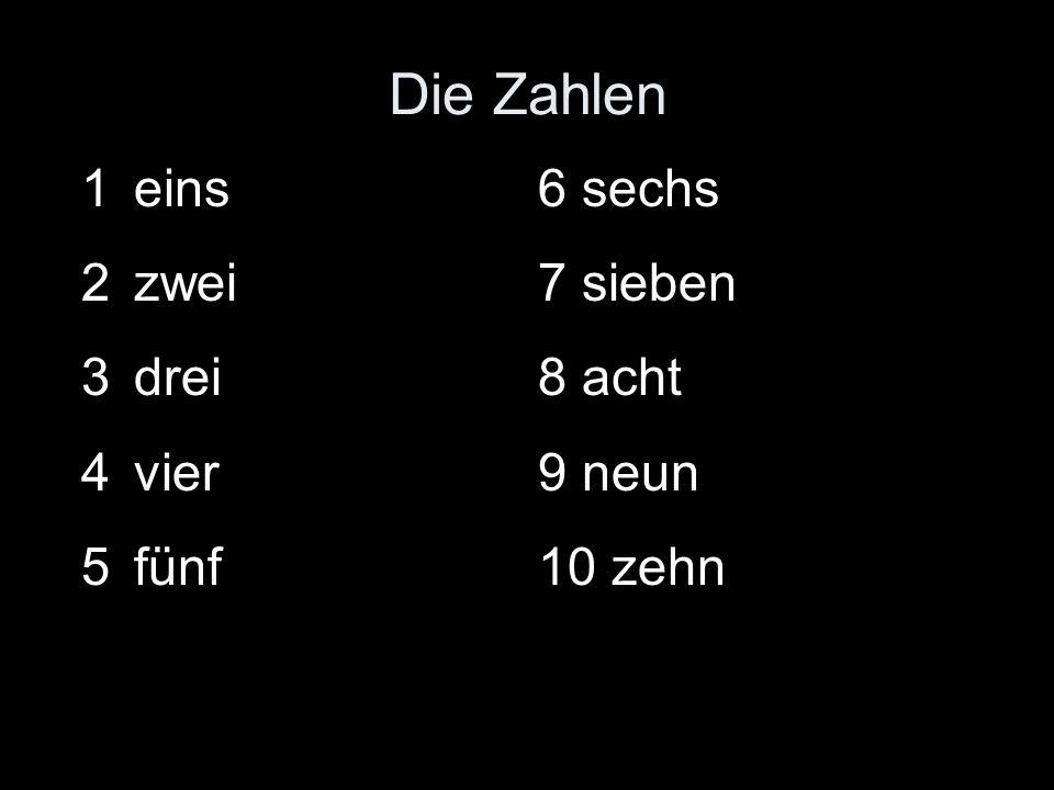 Die Zahlen 11 elf 12 zwölf 13 dreizehn 14 vierzehn 15 fünfzehn 16 sechzehn 17 siebzehn 18 achtzehn 19 neunzehn 20 zwanzig