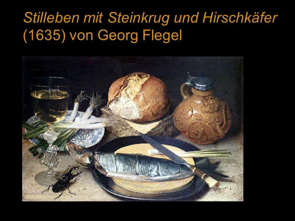 Stilleben mit Steinkrug und Hirschkäfer (1635) von Georg Flegel