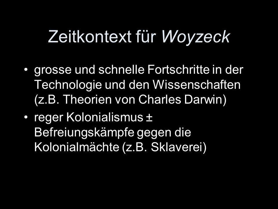 Woyzeck blieb Fragment basiert auf einem echten Vorfall Vorbild für Naturalismus (später 19.