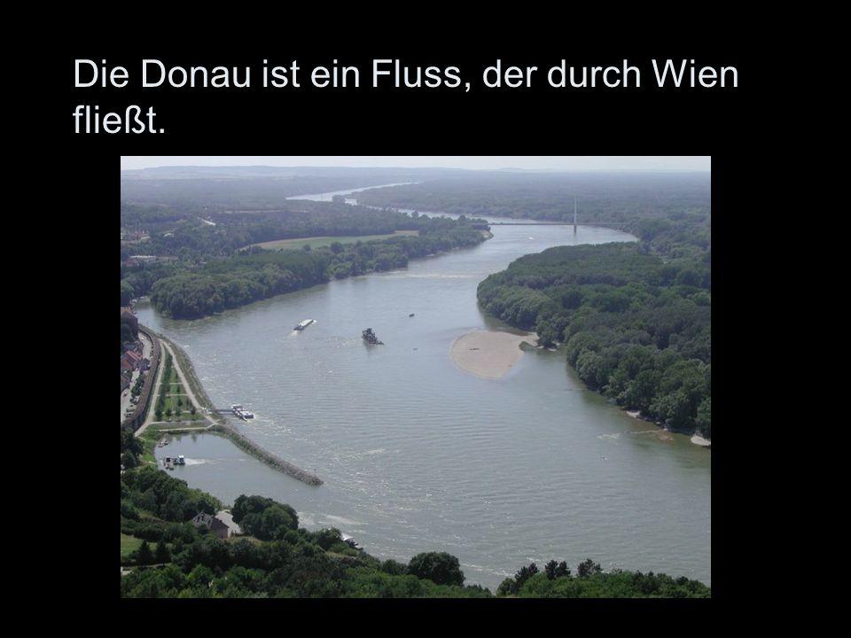 Die Donau ist ein Fluss, der durch Wien fließt.