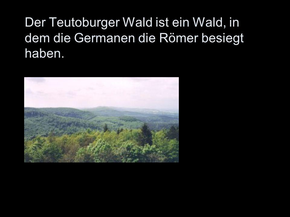 Der Teutoburger Wald ist ein Wald, in dem die Germanen die Römer besiegt haben.