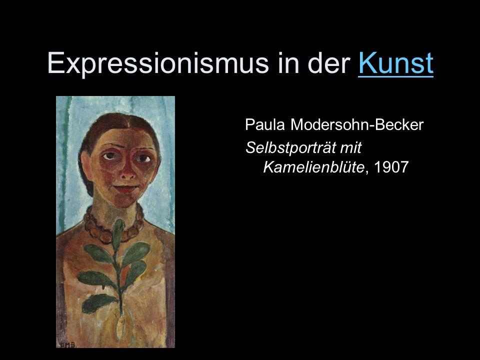 Expressionismus in der KunstKunst Paula Modersohn-Becker Selbstporträt mit Kamelienblüte, 1907