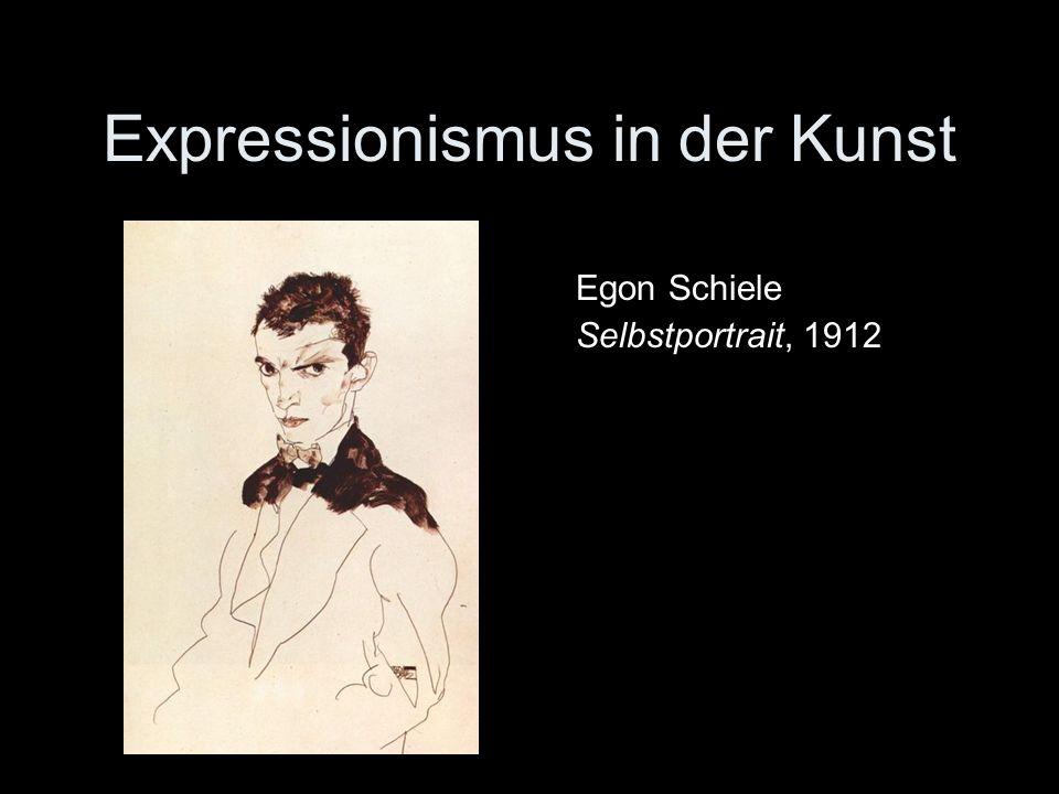 Expressionismus in der Kunst Egon Schiele Selbstportrait, 1912