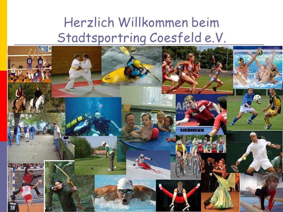 Stadtsportring Coesfeld e.V. Vorstand Mitglieder Projekte Aufgaben/ Ziele