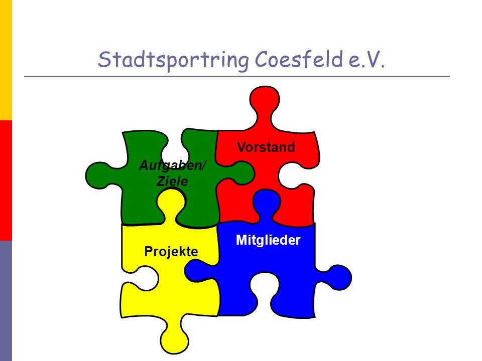 Ziele Förderung der sportlichen Betätigung Vereinssport hat einen hohen Stellenwert in Coesfeld.