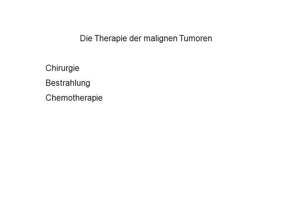 Die Therapie der malignen Tumoren Chirurgie Bestrahlung Chemotherapie