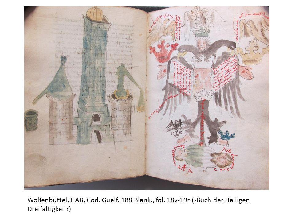 Wolfenbüttel, HAB, Cod. Guelf. 188 Blank., fol. 18v-19r (Buch der Heiligen Dreifaltigkeit)