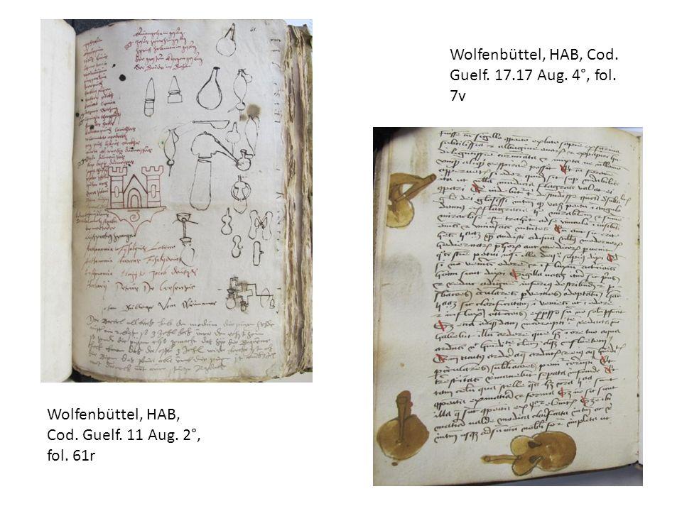 Wolfenbüttel, HAB, Cod. Guelf. 11 Aug. 2°, fol. 61r Wolfenbüttel, HAB, Cod. Guelf. 17.17 Aug. 4°, fol. 7v