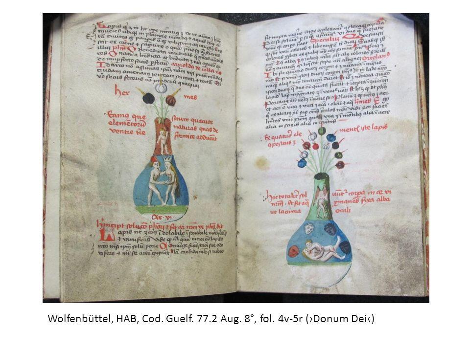 Wolfenbüttel, HAB, Cod. Guelf. 77.2 Aug. 8°, fol. 4v-5r (Donum Dei)