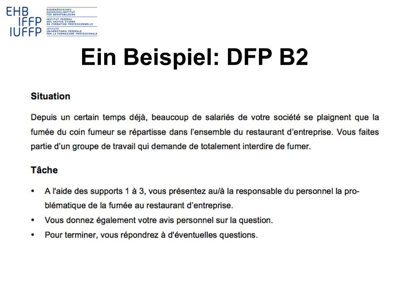 Ein Beispiel: DFP B2