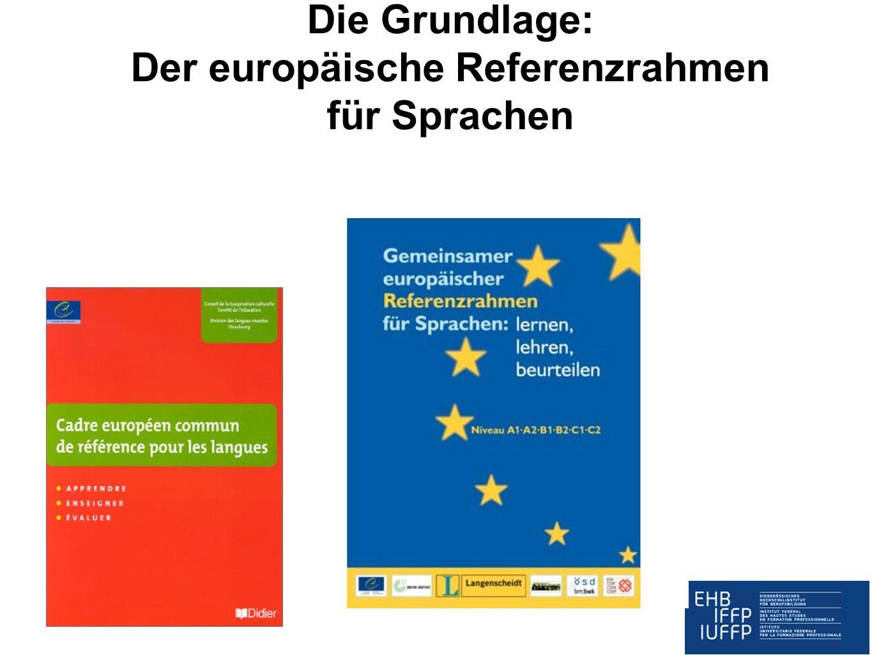 Die Grundlage: Der europäische Referenzrahmen für Sprachen