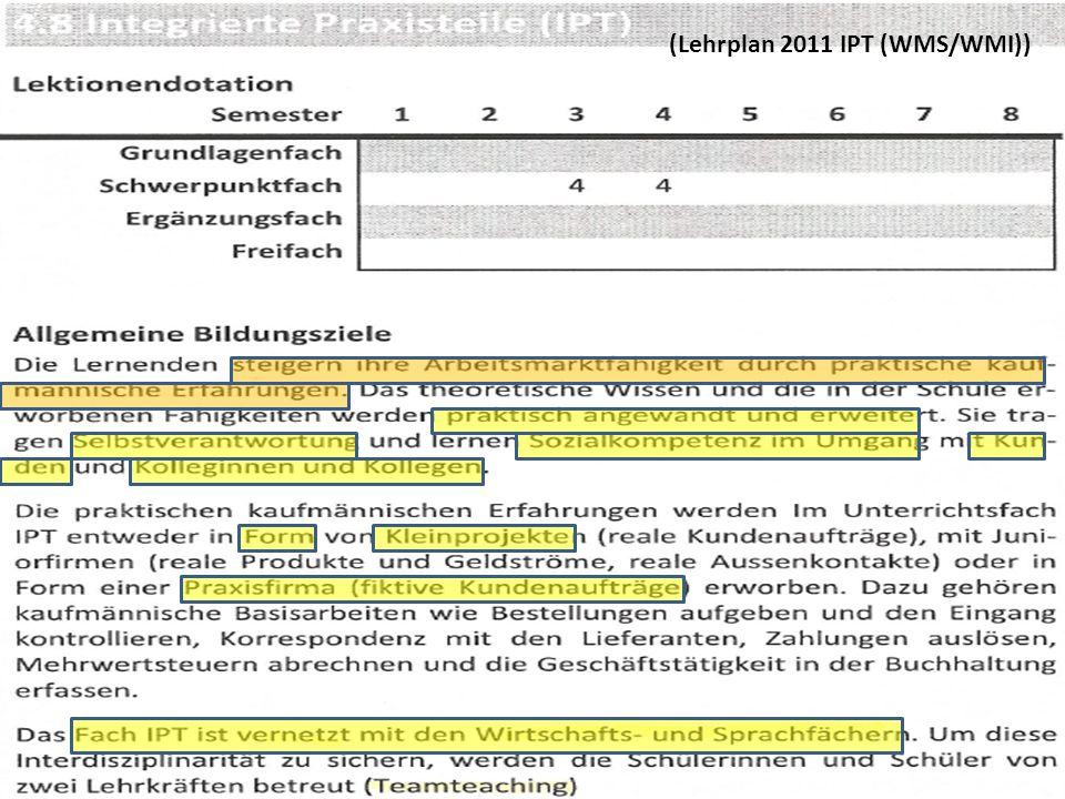 (Lehrplan 2011 IPT (WMS/WMI))