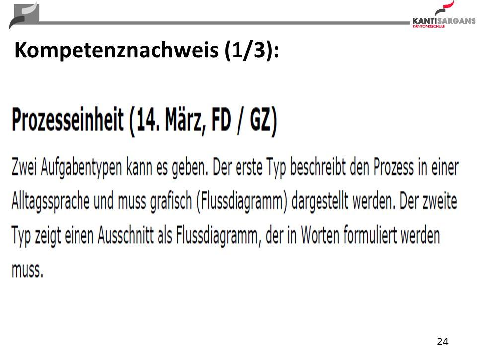 24 Kompetenznachweis (1/3):