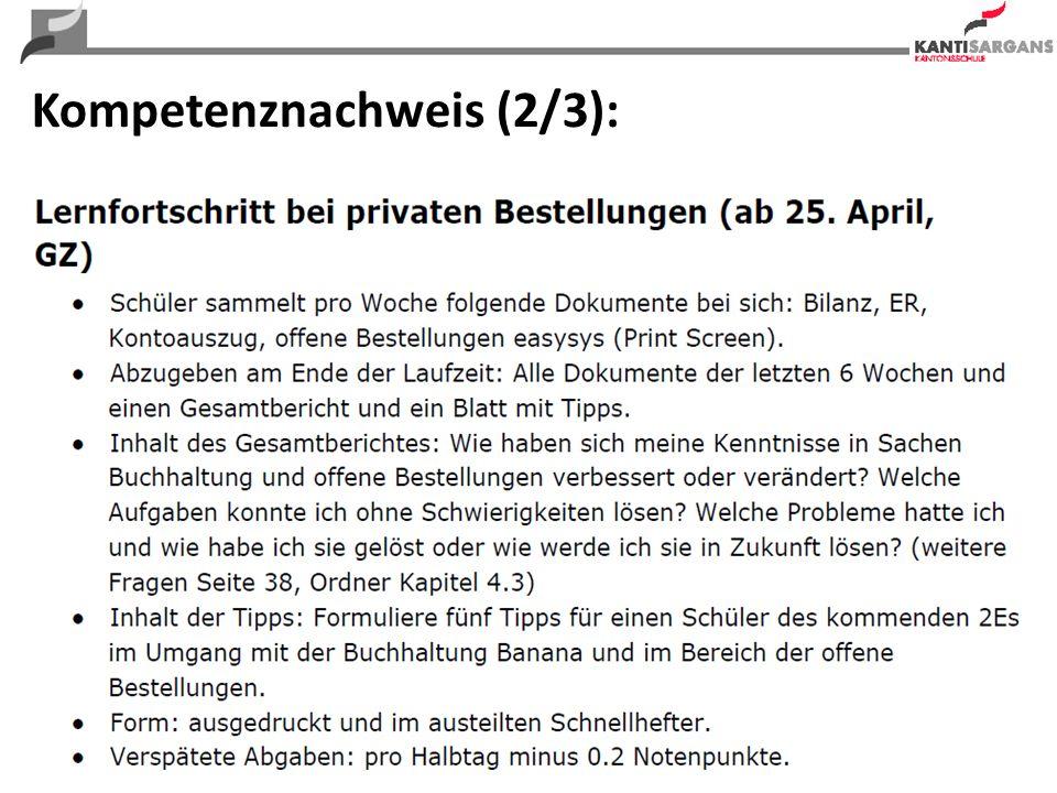 25 Kompetenznachweis (2/3):