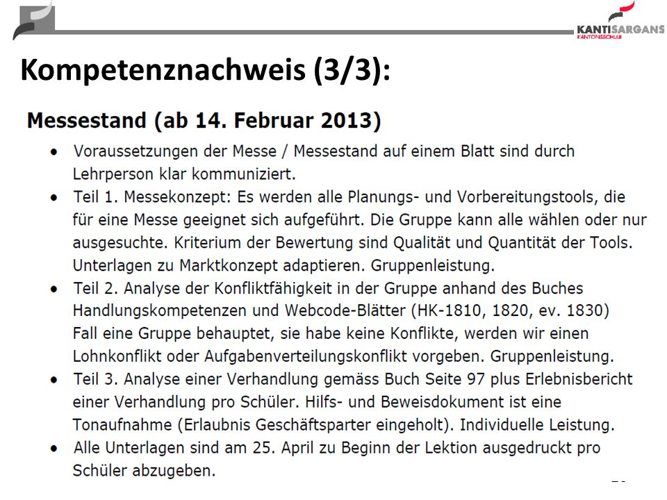 26 Kompetenznachweis (3/3):