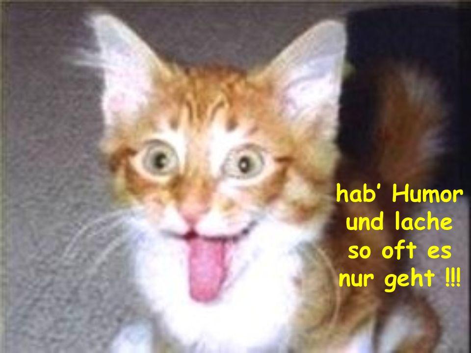 hab Humor und lache so oft es nur geht !!!