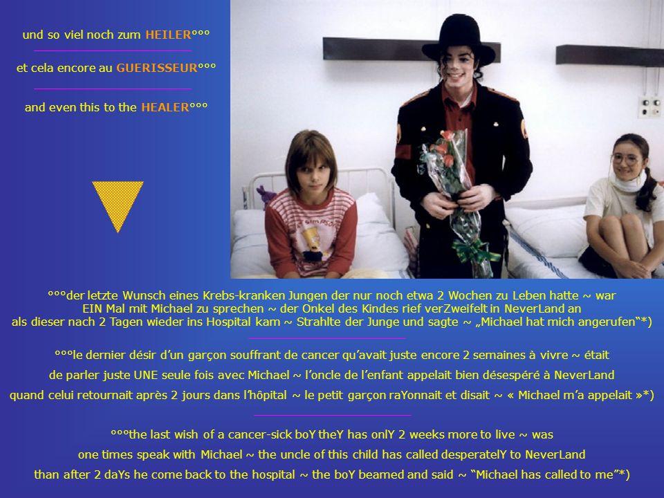 °°°der letzte Wunsch eines Krebs-kranken Jungen der nur noch etwa 2 Wochen zu Leben hatte ~ war EIN Mal mit Michael zu sprechen ~ der Onkel des Kindes