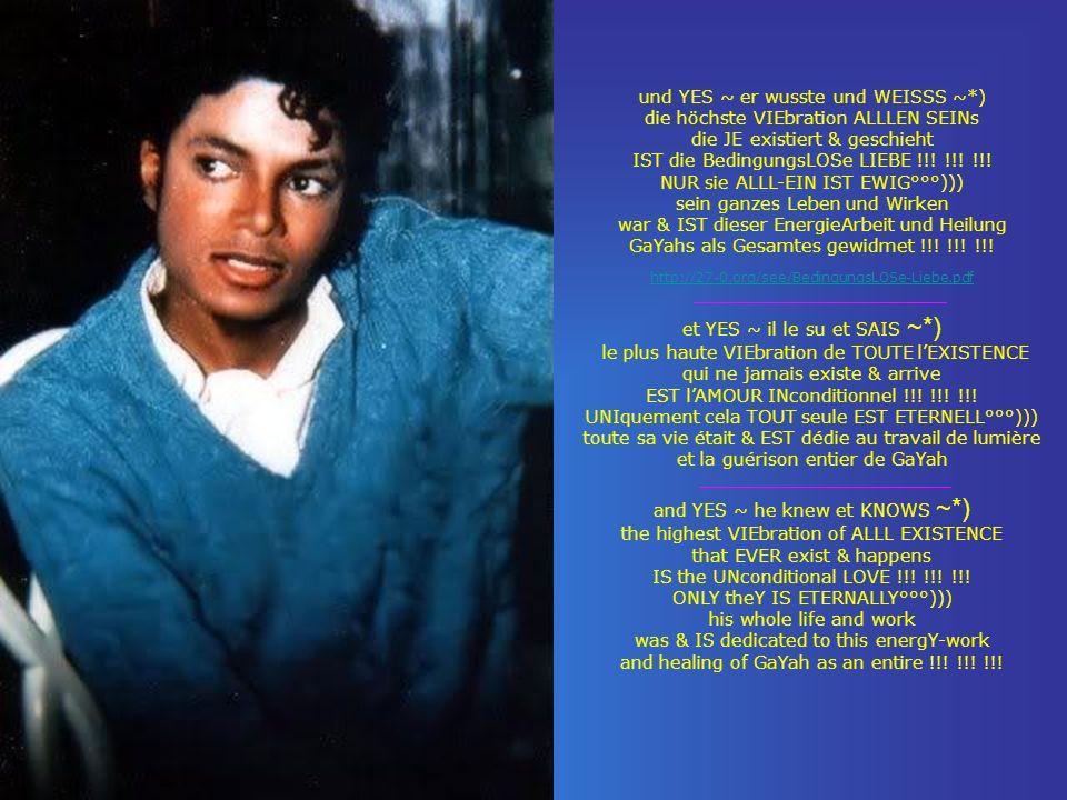 und YES ~ er wusste und WEISSS ~*) die höchste VIEbration ALLLEN SEINs die JE existiert & geschieht IST die BedingungsLOSe LIEBE !!! !!! !!! NUR sie A