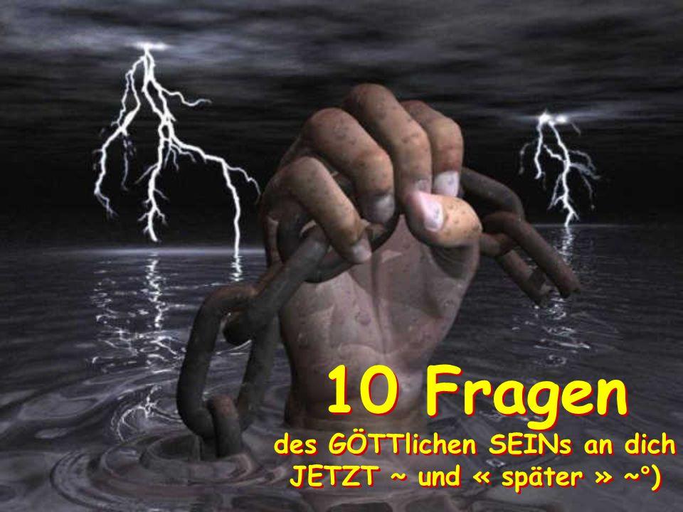 10° du wirst NIE-Mals gefragt ob du anderen Menschen & Wesen eine Freude in ihren HERZen bereitest ~ dies ist längst bekannt~°) !!.