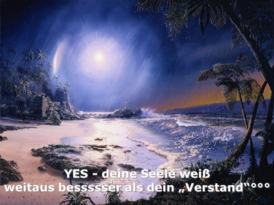 YES - deine Seele weiß weitaus bessssser als dein Verstand°°°