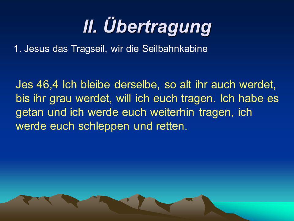 II.Übertragung 2. Die geniale Konstruktion Röm 8,31-35 Wer will verdammen.