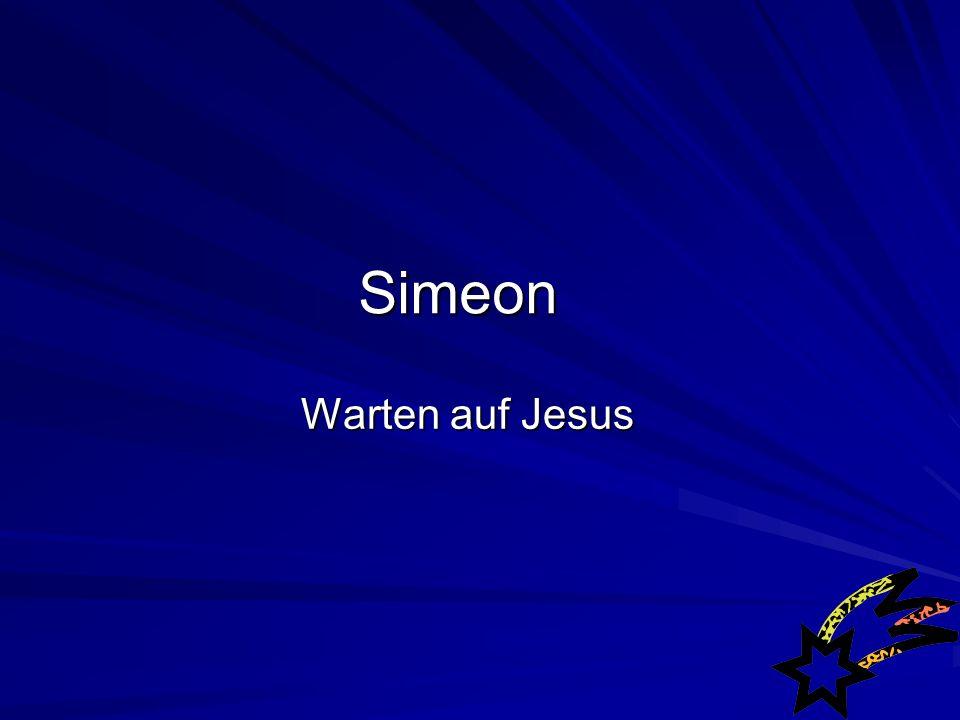Lukas 2,25-35 (HFA) 25 In Jerusalem wohnte ein Mann, der Simeon hiess.