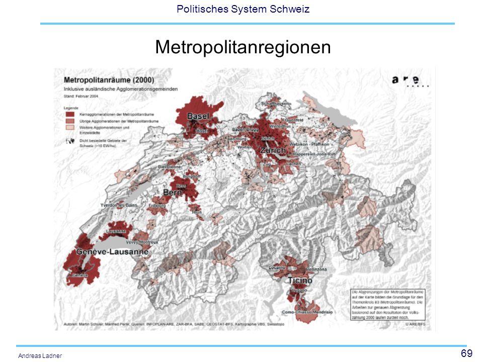69 Politisches System Schweiz Andreas Ladner Metropolitanregionen