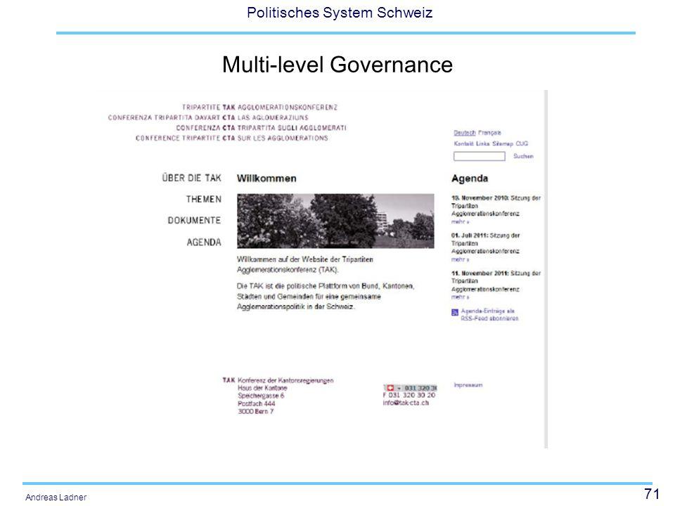 71 Politisches System Schweiz Andreas Ladner Multi-level Governance