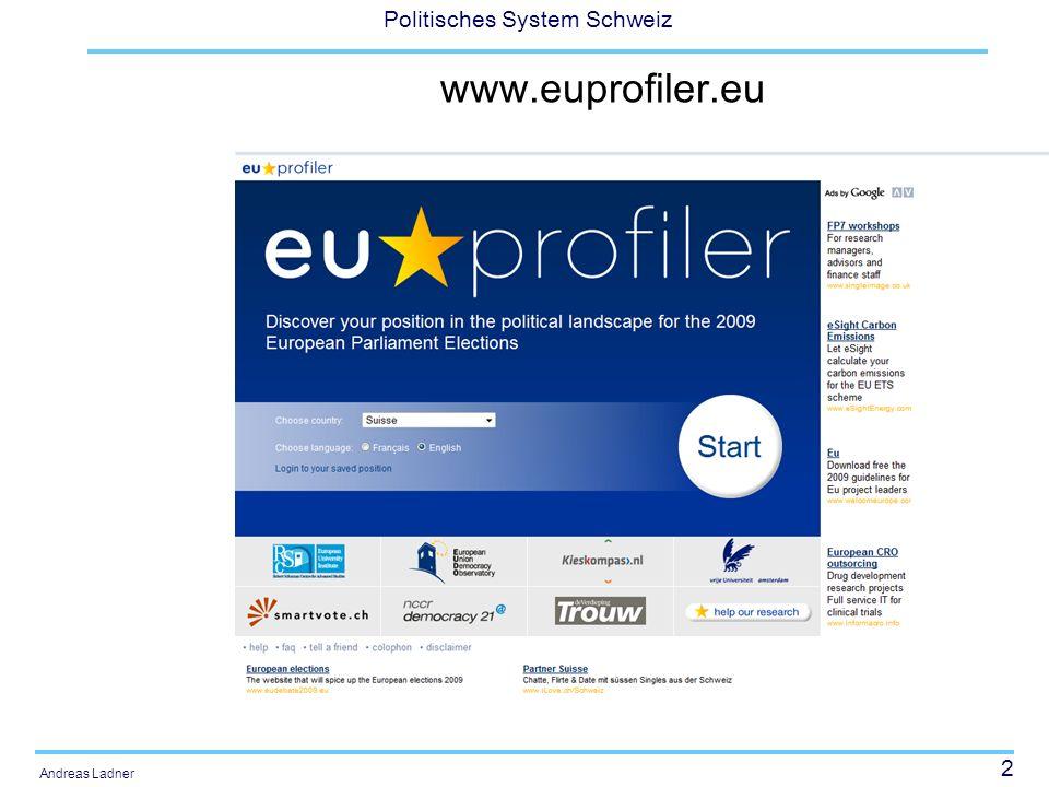 2 Politisches System Schweiz Andreas Ladner www.euprofiler.eu