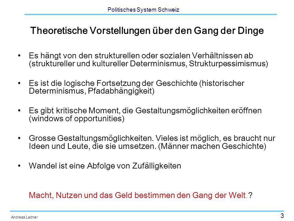24 Politisches System Schweiz Andreas Ladner 1.