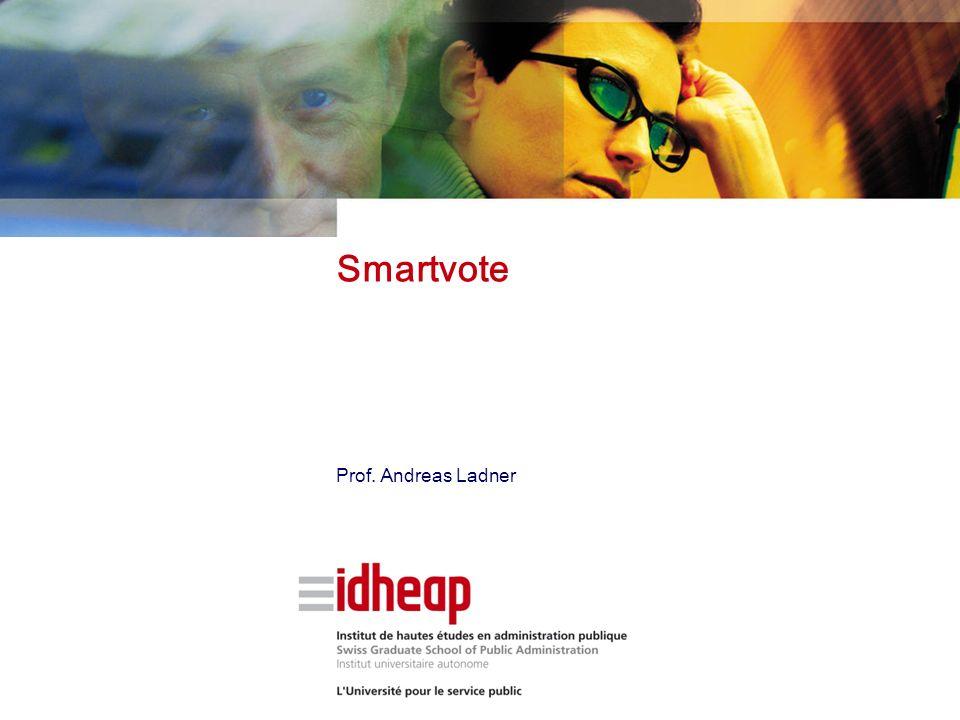 Smartvote Prof. Andreas Ladner