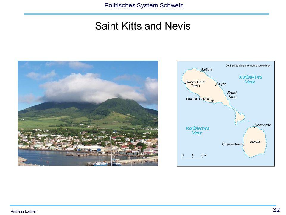 32 Politisches System Schweiz Andreas Ladner Saint Kitts and Nevis