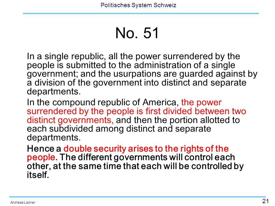 21 Politisches System Schweiz Andreas Ladner No.