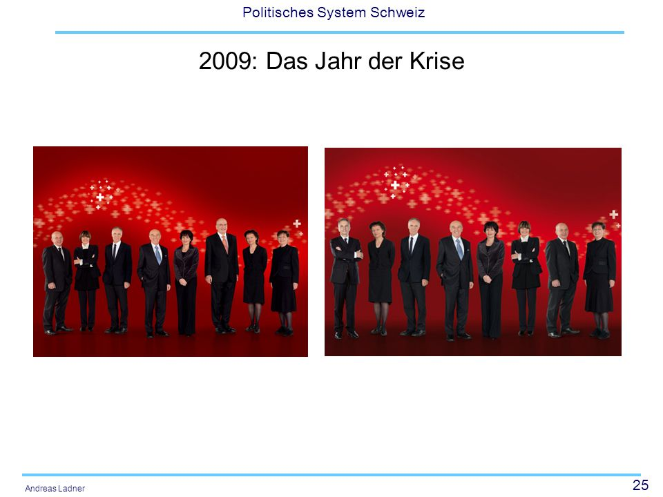 25 Politisches System Schweiz Andreas Ladner 2009: Das Jahr der Krise