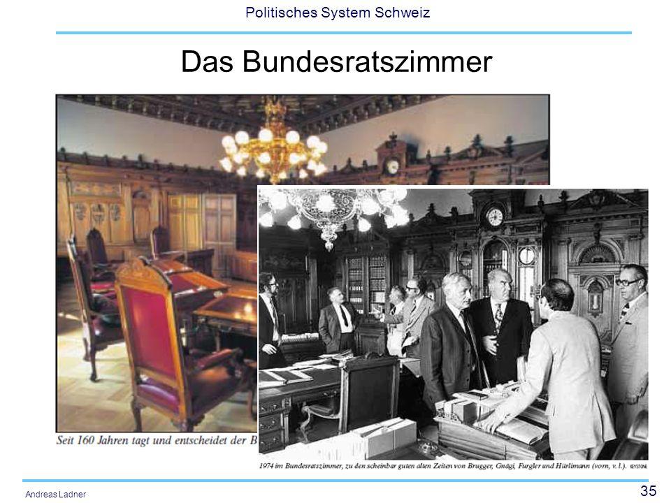 35 Politisches System Schweiz Andreas Ladner Das Bundesratszimmer
