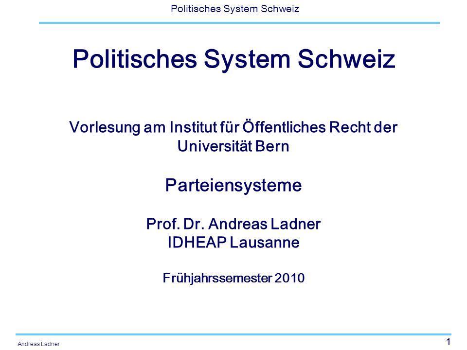 12 Politisches System Schweiz Andreas Ladner Wie unterscheiden sich Parteiensysteme.