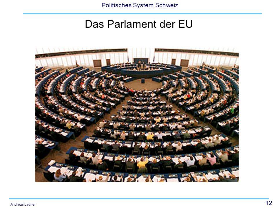 12 Politisches System Schweiz Andreas Ladner Das Parlament der EU