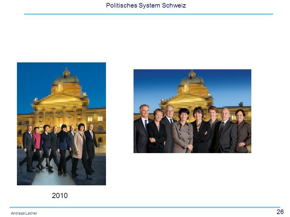 26 Politisches System Schweiz Andreas Ladner 2010