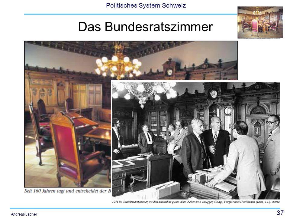 37 Politisches System Schweiz Andreas Ladner Das Bundesratszimmer