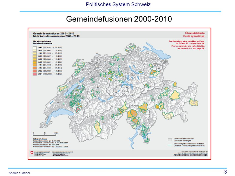 54 Politisches System Schweiz Andreas Ladner Es gibt keine optimale Gemeindegrösse Je nach Art der Gemeinde ist eine andere Grösse optimal.