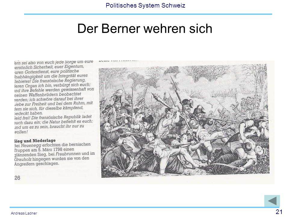 21 Politisches System Schweiz Andreas Ladner Der Berner wehren sich