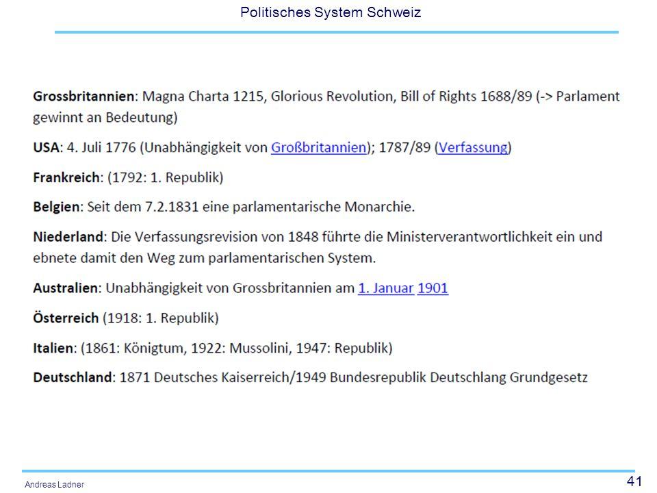 41 Politisches System Schweiz Andreas Ladner