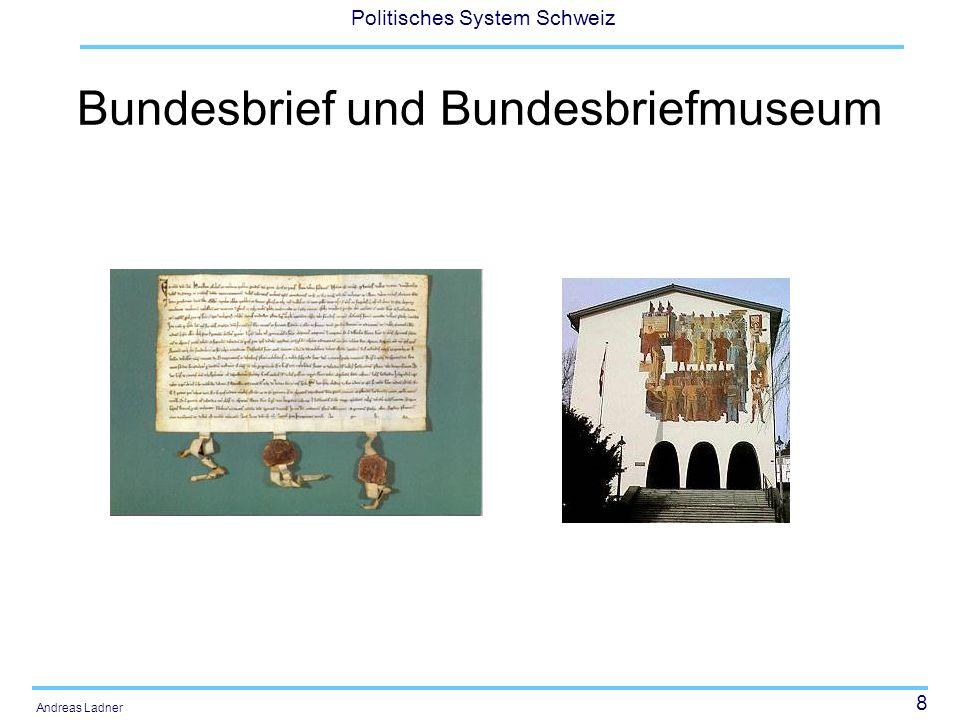 39 Politisches System Schweiz Andreas Ladner Vom Staatenbund zum Bundesstaat Mit der Bundesverfassung von 1848 wurde aus dem Staatenbund ein Bundesstaat.