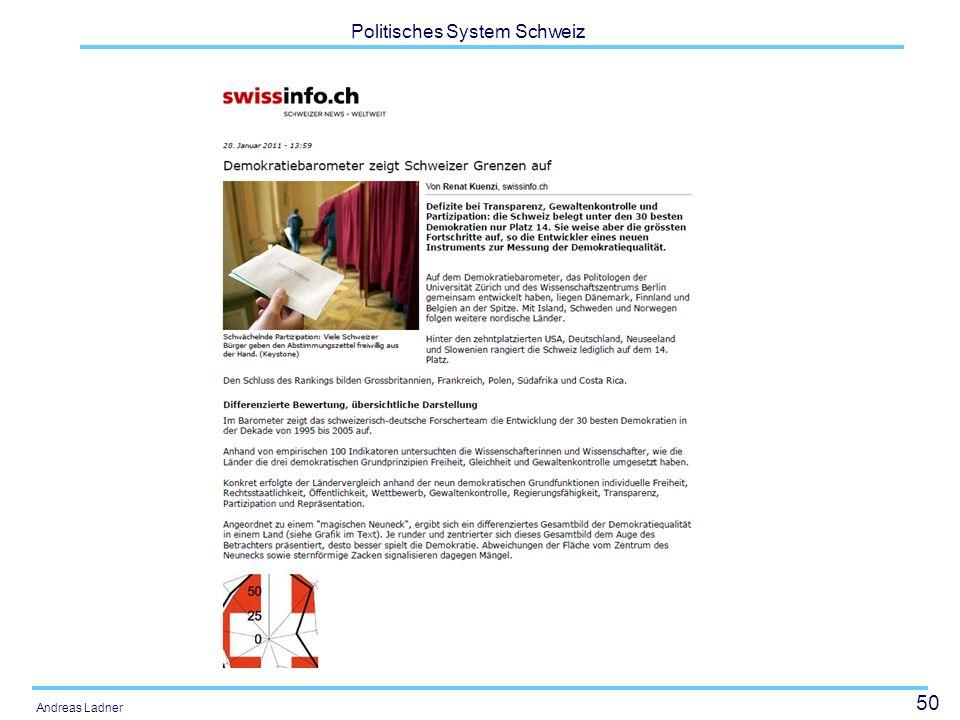 50 Politisches System Schweiz Andreas Ladner
