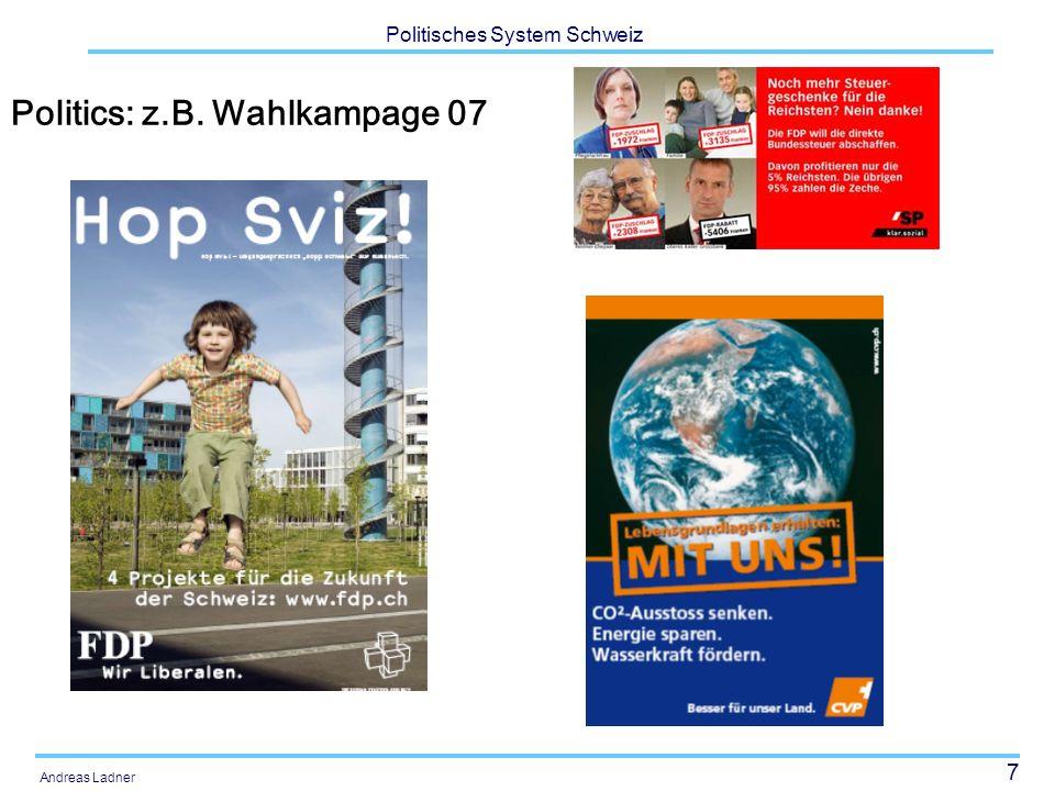 38 Politisches System Schweiz Andreas Ladner Herkunft ausländische Wohnbevölkerung
