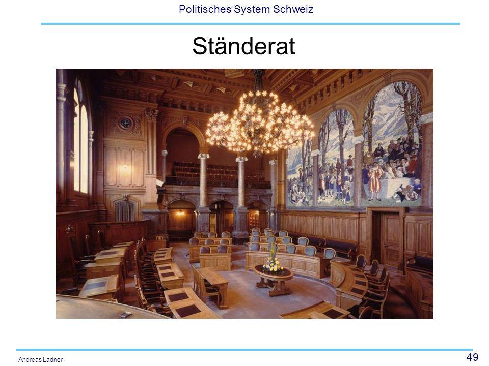 50 Politisches System Schweiz Andreas Ladner Ständerat: Sitzverteilung 1975-2007