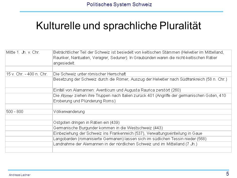 36 Politisches System Schweiz Andreas Ladner Vom Referendum zur Konkordanz Zwischen 1874 und 1891 werden 2/3 der 19 Vorlagen abgelehnt.